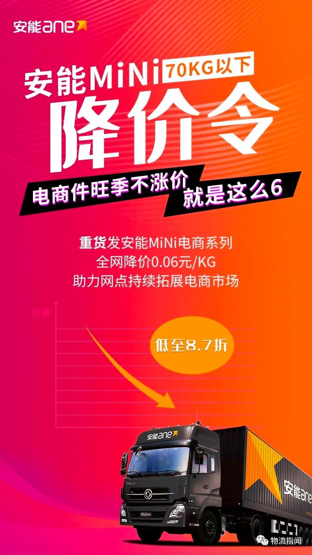 抢货旺季,安能宣布MINI电商系列降价